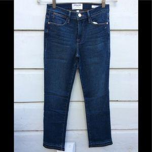 New FRAME Le High straight slim released hem jeans
